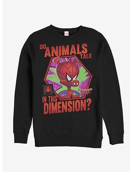 Marvel Spider Man Spider Verse Animals Talk Sweatshirt by Hot Topic