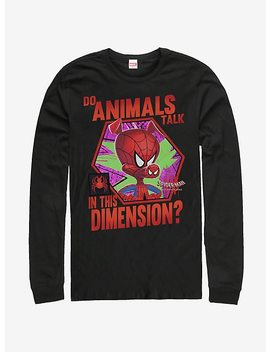 Marvel Spider Man Spider Verse Animals Talk Long Sleeve T Shirt by Hot Topic
