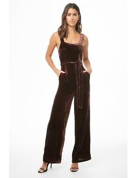 Velvet Wide Leg Jumpsuit by Forever 21