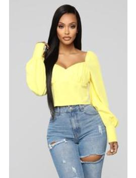 So Sophisticated Top   Yellow by Fashion Nova