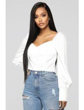 So Sophisticated Top   White by Fashion Nova