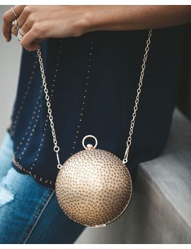 Miley Embellished Sphere Chain Bag   Gold by Vici