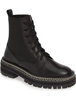 Ashton Chain Moto Boot by Topshop