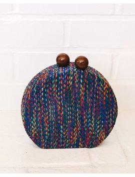 Rebelle Woven Crossbody Canteen Bag   Blue/Multi by Vici
