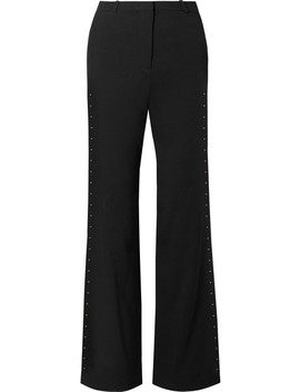 Embellished Stretch Crepe Flared Pants by See By Chloé