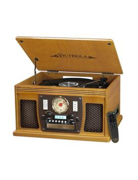 7 In 1 Bluetooth Record Player With Usb Recording In Oak by Victrola