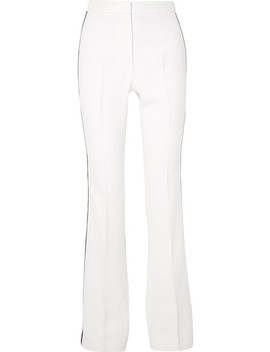 Striped Crepe Flared Pants by Michael Kors Collection