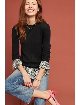 Leopard Layered Pullover by Kachel