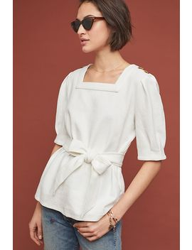 barnette-puff-sleeved-top by current-air