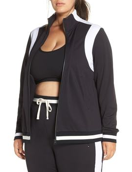 Match Up Reflective Track Jacket by Zella