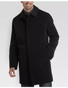 Joseph Abboud Black Classic Fit Raincoat by Mens Wearhouse
