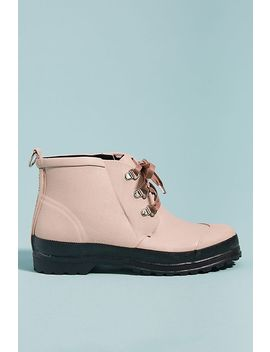 Ilse Jacobsen Lace Up Short Rubber Boots by Ilse Jacobsen