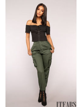 Women's High Waist Casual Drawstring Elastic Long Pants Ladies Pencil Trousers by Itfabs
