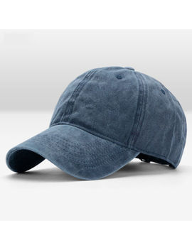 Polo Style Baseball Cap Ball Dad Hat Adjustable Plain Solid Washed Unisex by Unbranded