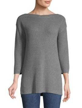 Textured Boatneck Top by Lord & Taylor