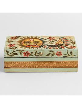 Wood Hand Painted Sun And Moon Box by World Market