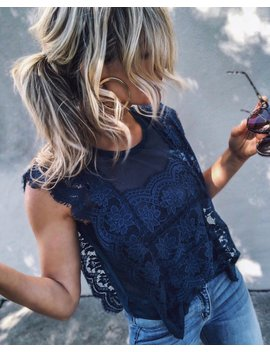 Monarch Lace Tank   Teal by Vici