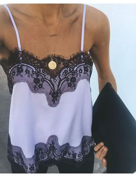 Collette Adjustable Lace Cami Tank   Lavender/Purple by Vici