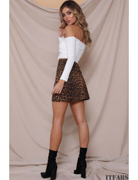 Women High Waist Lace Up Suede Leather Pocket Preppy Short Mini Skirts Dress by Itfabs