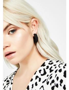 Onyx Sneaky Sass Hoop Earrings by Ana Accessories