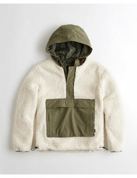 Sherpa Half Zip Anorak by Hollister