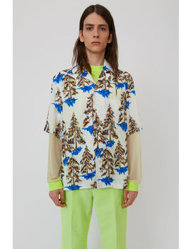Print Shirt White/Brown by Acne Studios