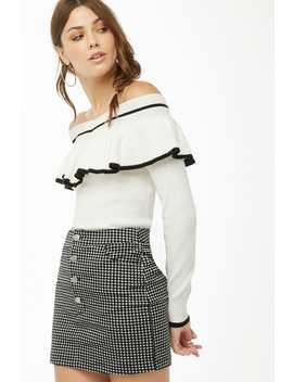Flounce Sweater Knit Top by Forever 21