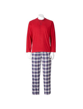 Chaps Men's Big & Tall Pajama Sleep Set Henley Shirt & Flannel Lounge Pants Xlt by Chaps