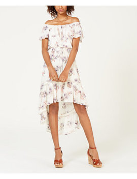 Juniors' Off The Shoulder High Low Dress, Created For Macy's by American Rag