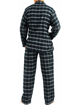 Norty Mens Flannel 2 Piece Pajama Sets   100 Percents Brushed Cotton Flannel   8 Prints by Norty