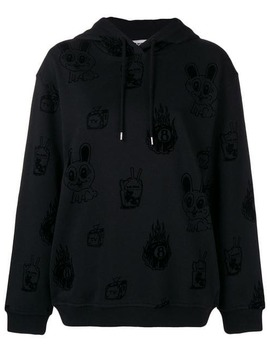 Bunny Printed Hoodie by Mc Q Alexander Mc Queen