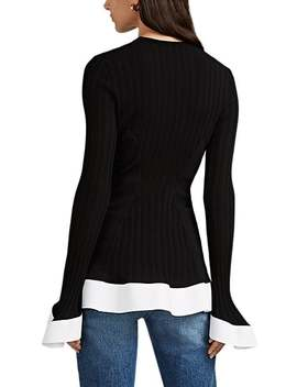 Flared Rib Knit Top by Esteban Cortazar