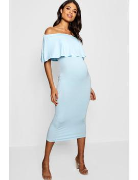 Maternity Off The Shoulder Midi Dress by Boohoo