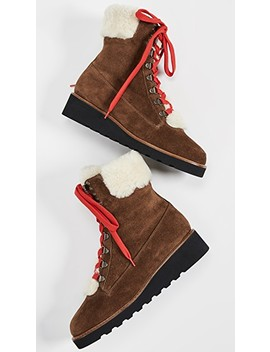 Vale Hiker Shearling Boots by Veronica Beard