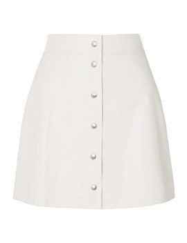 Faux Leather Mini Skirt by Sara Battaglia