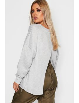Plus Split Back Sweat Top by Boohoo