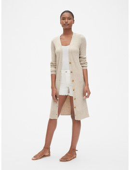 True Soft Ribbed Duster Cardigan Sweater by Gap