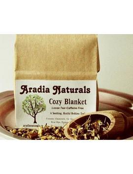 Cozy Blanket   Specialty Herbal Bedtime Sleepy Tea Blend   Delicious Natural Ingredients by Etsy
