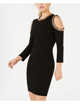 Juniors' Embellished Cold Shoulder Dress by Xoxo