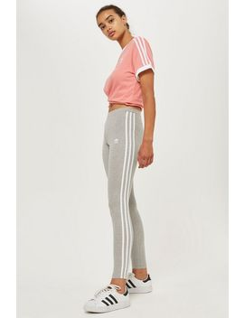 Three Striped Leggings By Adidas Originals by Topshop