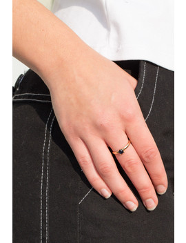 Deep Blue Rhinestone Ring by Brandy Melville