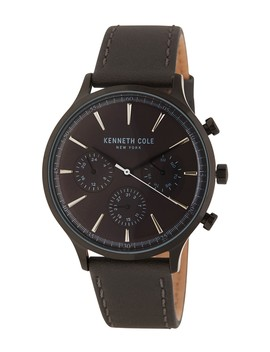 Men's Leather Chronograph Watch, 42mm by Kenneth Cole New York