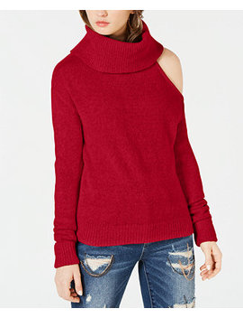 Cowlneck Cold Shoulder Sweater by Guess