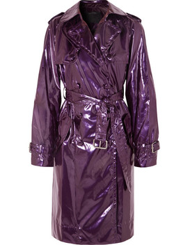 Metallic Vinyl Trench Coat by Marc Jacobs