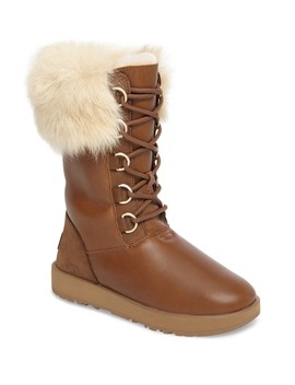 Aya Genuine Shearling Waterproof Leather Boot by Ugg