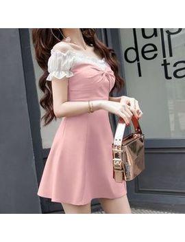 May Fair   Off Shoulder A Line Mini Dress by May Fair