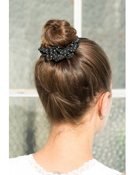 Black And White Polka Dot Scrunchie by Brandy Melville