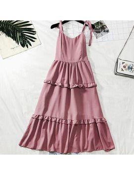 Lemongrass   Layered Sleeveless A Line Dress by Lemongrass