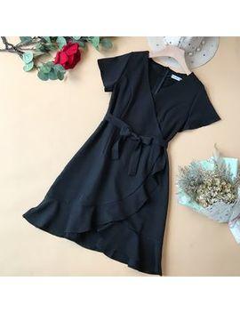 Yearnin   Plain Short Sleeve Dress by Yearnin