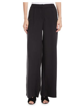 Tencel® Wide Leg Trousers by Eileen Fisher